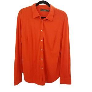 Ralph Lauren long sleeve knit button down shirt